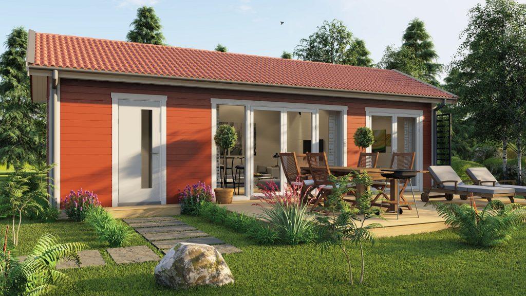 Bohus Classic 40 fritidshus med taklätta och loft