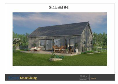 Ståleröd 64 rendering fasad