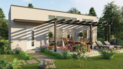 Bohus Modern Fritidshus 40kvm - Pergola fönsterdörrar