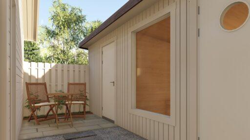 Bohus Classic Smart Villa 80kvm fritidshus med gäststuga (attefallshus) och förråd